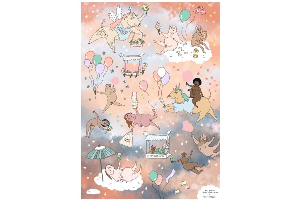 Eat Mielies Weird Illustration Puzzel Candy Dreamland 1